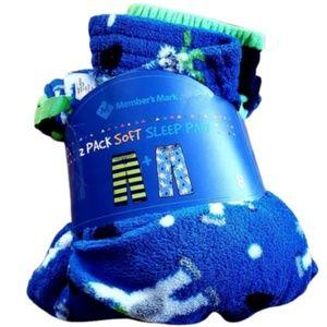 Boys Sz 8 (2pk) Pajamas Pj Fleece Soft Sleep pants